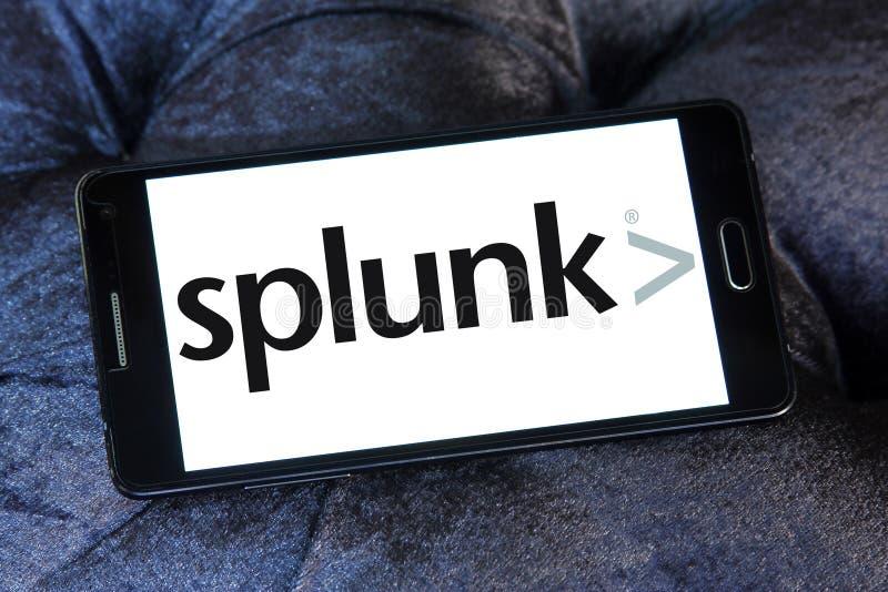 Splunk firmy logo zdjęcia royalty free