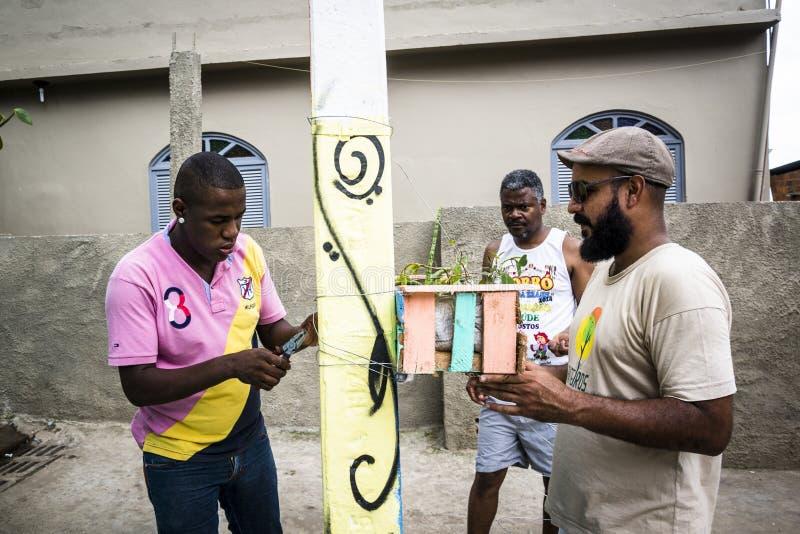 Społeczność projekt, Salvador, Bahia, Brazylia obrazy stock