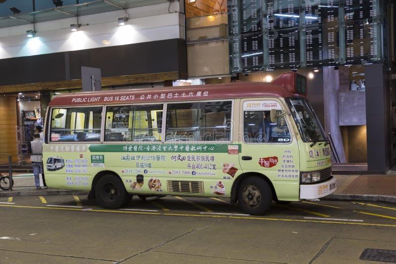 Społeczeństwo lekka autobusowa usługa w Hong Kong obrazy royalty free