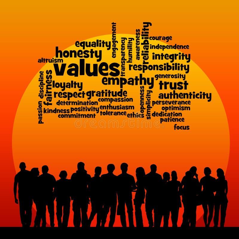 Społeczeństwo wartości ilustracji