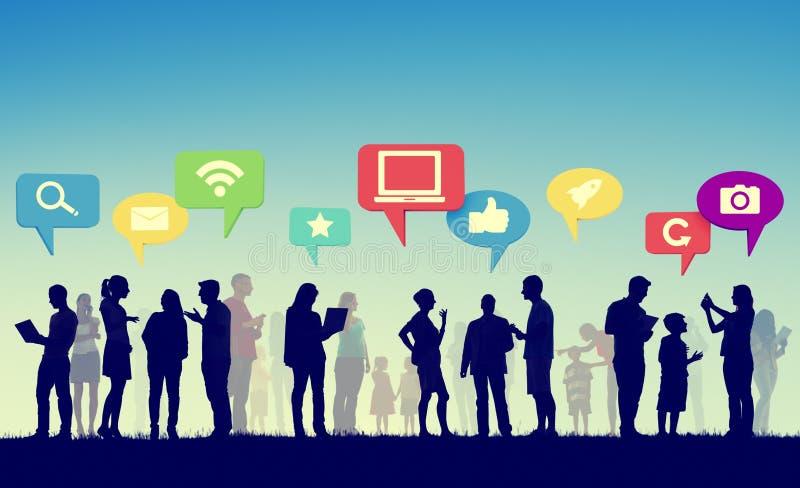 Społeczność biznesu drużyny Cyfrowej komunikaci pojęcie