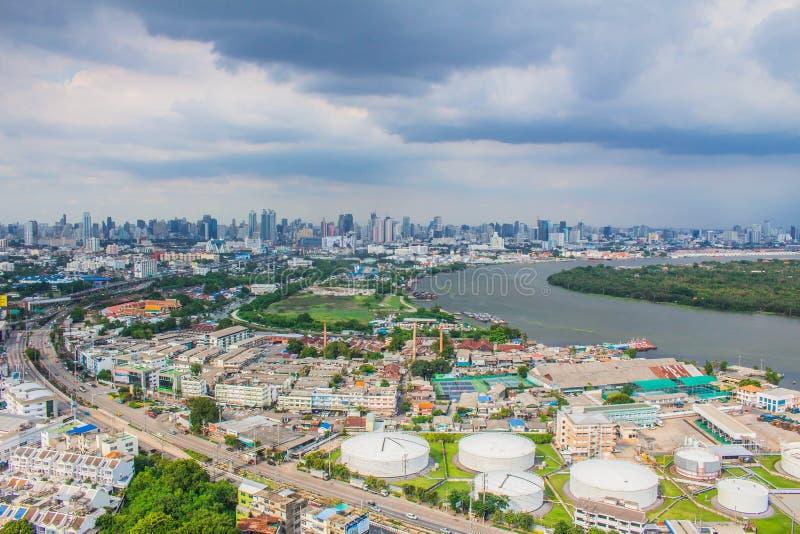 Społeczność na rzece w Tajlandia zdjęcia royalty free