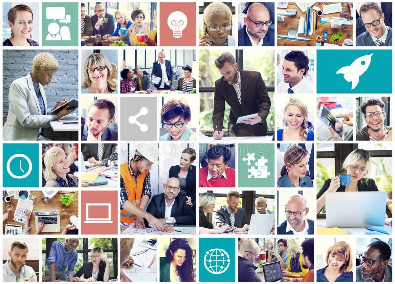 Społeczność networking technologii zawartości Komunikacyjny pojęcie obrazy royalty free