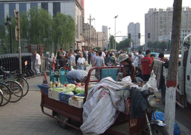 Społeczność rolników rynek w ranku obrazy royalty free