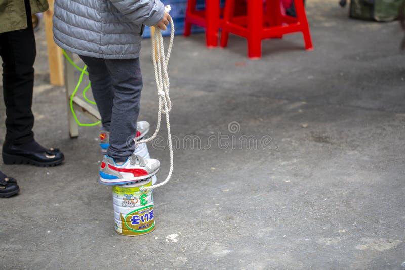 Społeczności aktywności centrum, Limin odtwarzanie, Tajwan, Nowy Taipei miasto, życie festiwal obrazy royalty free