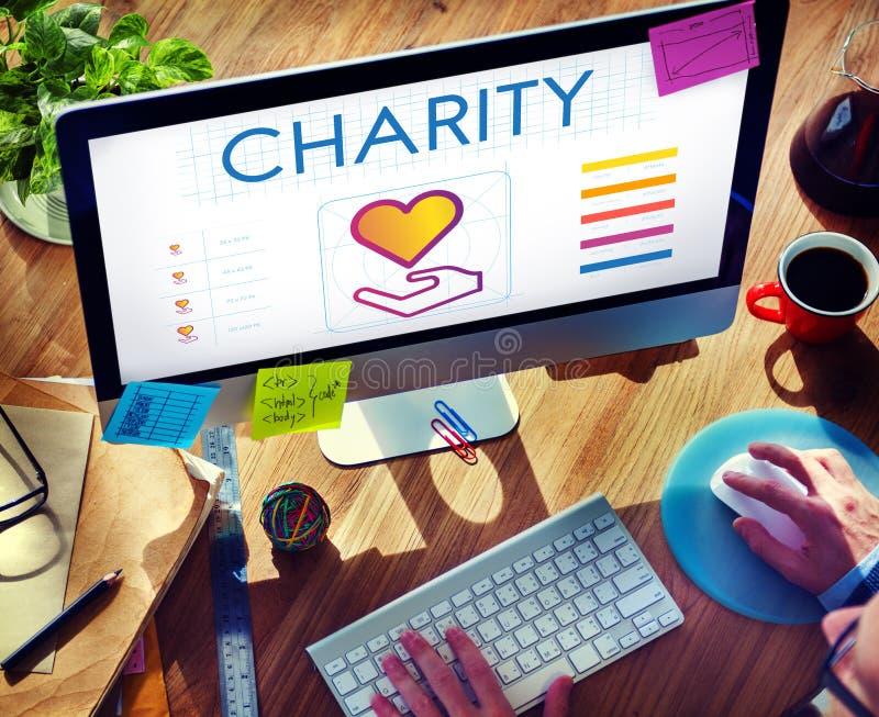 Społeczności części dobroczynności darowizny pojęcie obraz royalty free