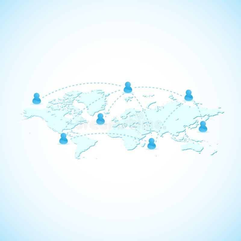 społeczności globalnej sieci sieć ilustracja wektor