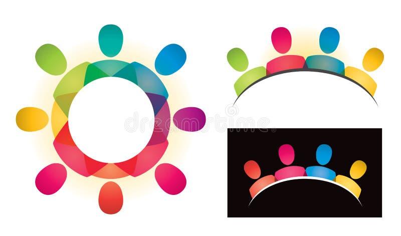 Społeczności grupy logo royalty ilustracja