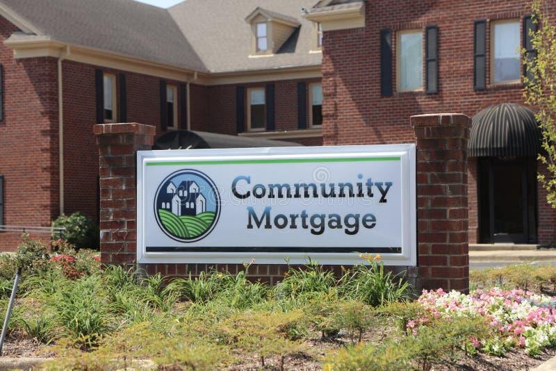 Społeczności hipoteka zdjęcia royalty free