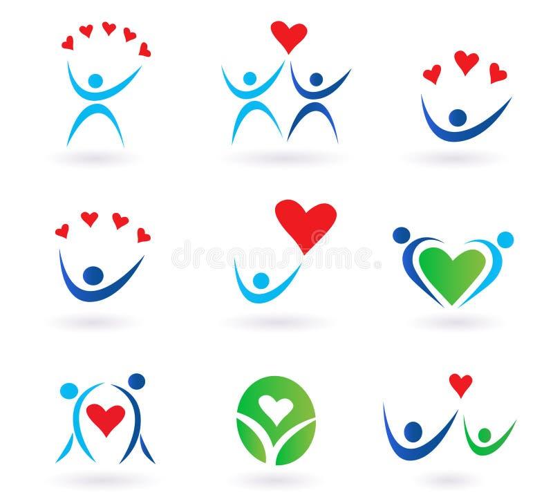 społeczności ikon miłości związek ilustracji