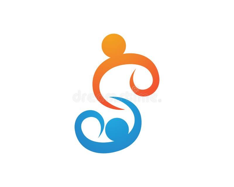 Społeczności listowego S loga projekta Biznesowego korporacyjnego wektoru ludzie ilustracja wektor