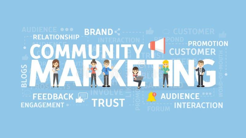 Społeczności marketingowy pojęcie royalty ilustracja