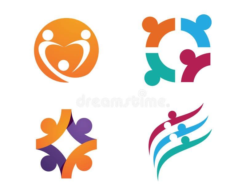Społeczności opieki logo ilustracja wektor