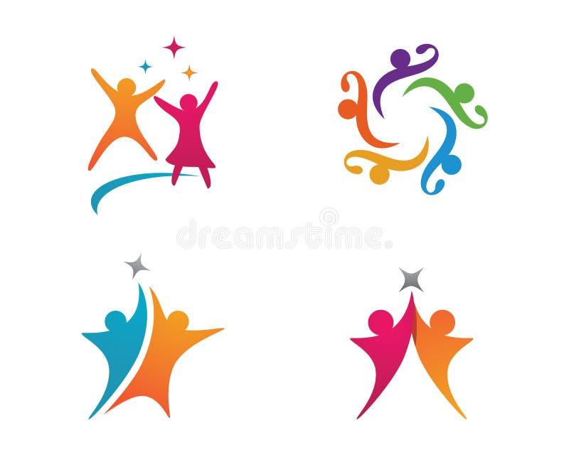 Społeczności opieki logo royalty ilustracja