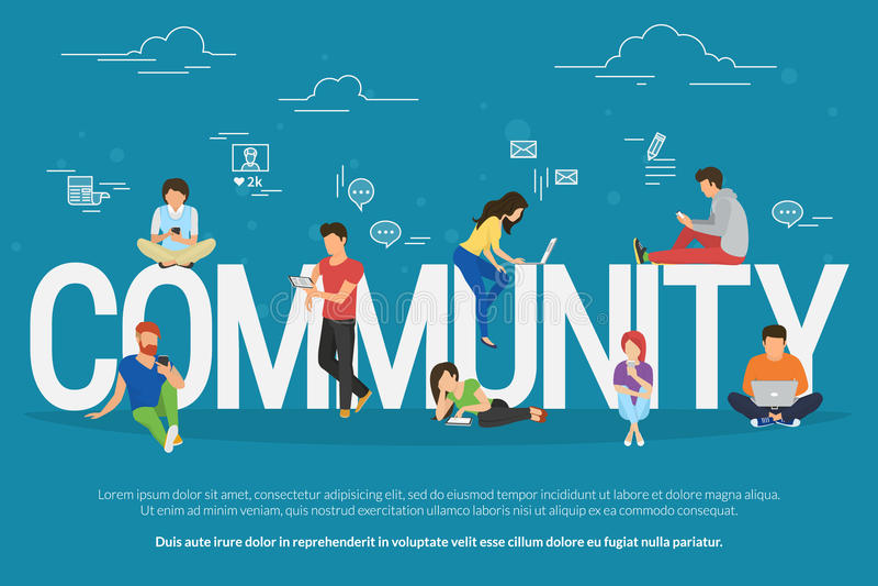 Społeczności pojęcia ilustracja royalty ilustracja