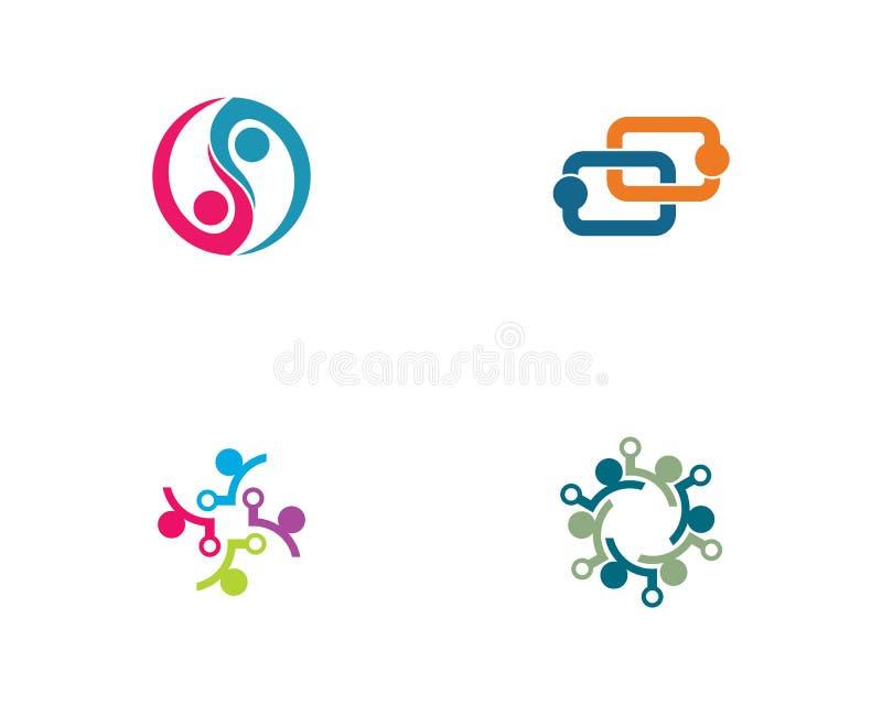 Spo?eczno?? logo szablonu ilustracja ilustracja wektor