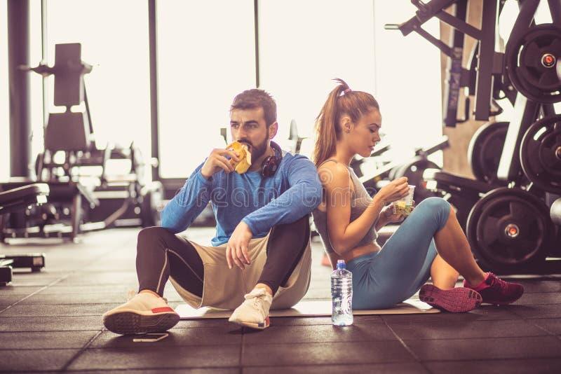 Spoczynkowy i zdrowy jedzenie obraz stock