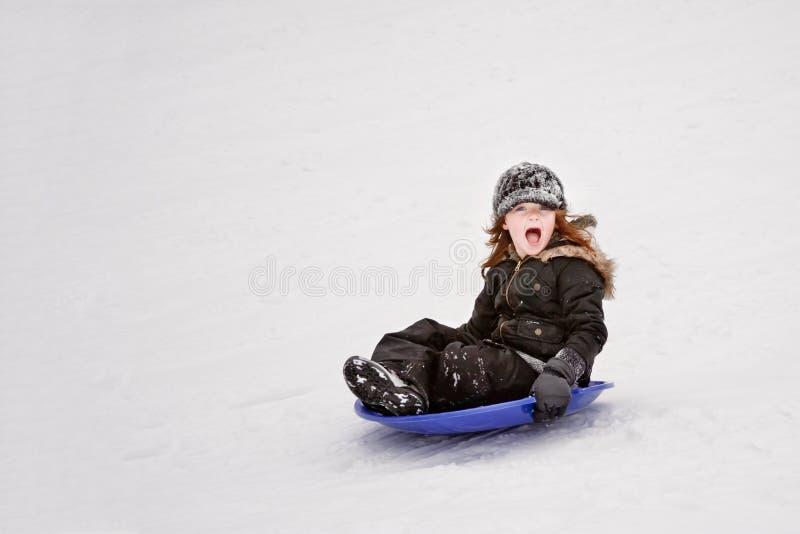 spodeczek sledding obrazy royalty free