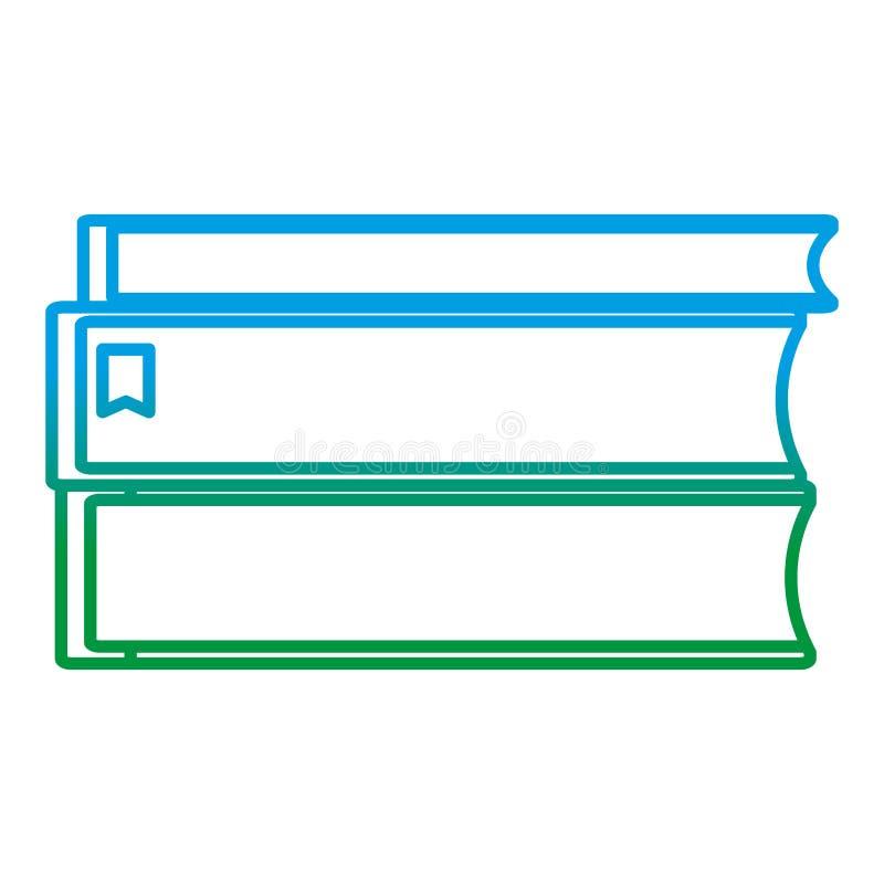 Spodlona linia rezerwuje literatury edukacji szkolnej naczynia ilustracja wektor