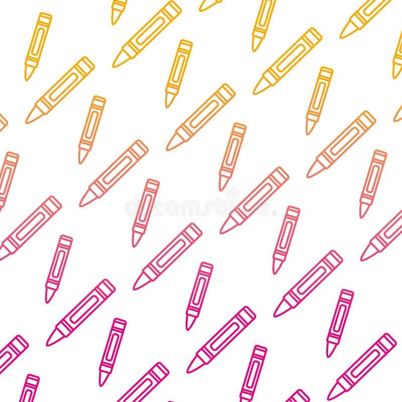 Spodlony kreskowy ładny kredkowy ołówkowy sztuki tło ilustracja wektor