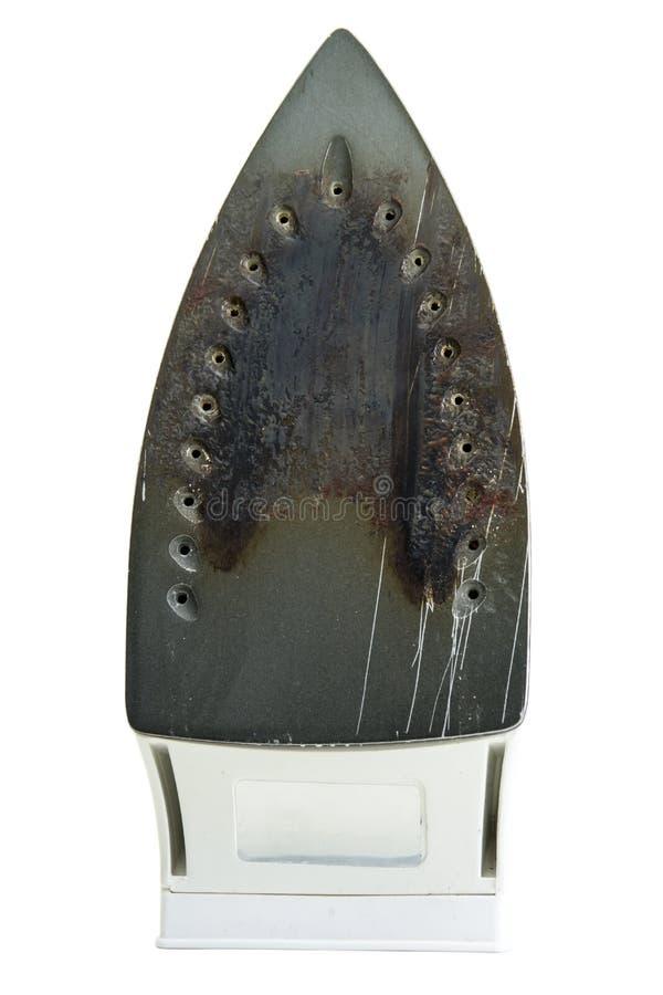 Spodlony parowy żelazo zdjęcie stock