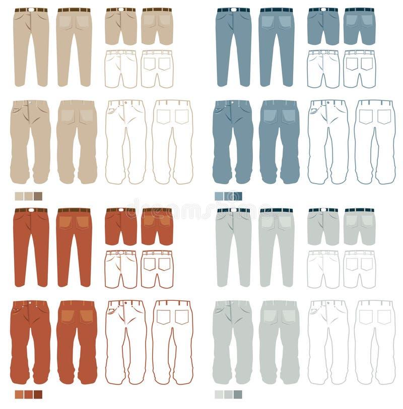 Spodnia fasonują set   royalty ilustracja