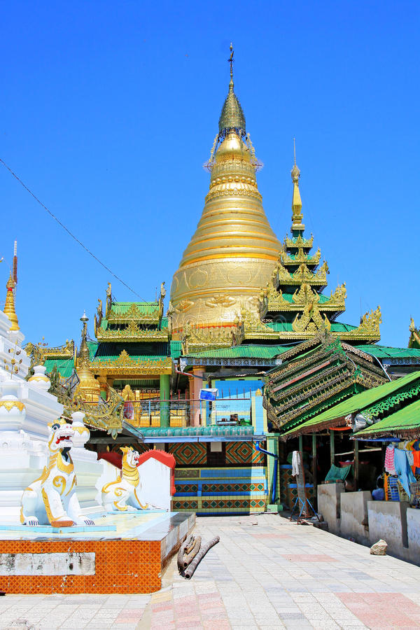 Spoedig Oo Ponya Shin Pagoda, Sagaing, Myanmar stock afbeeldingen