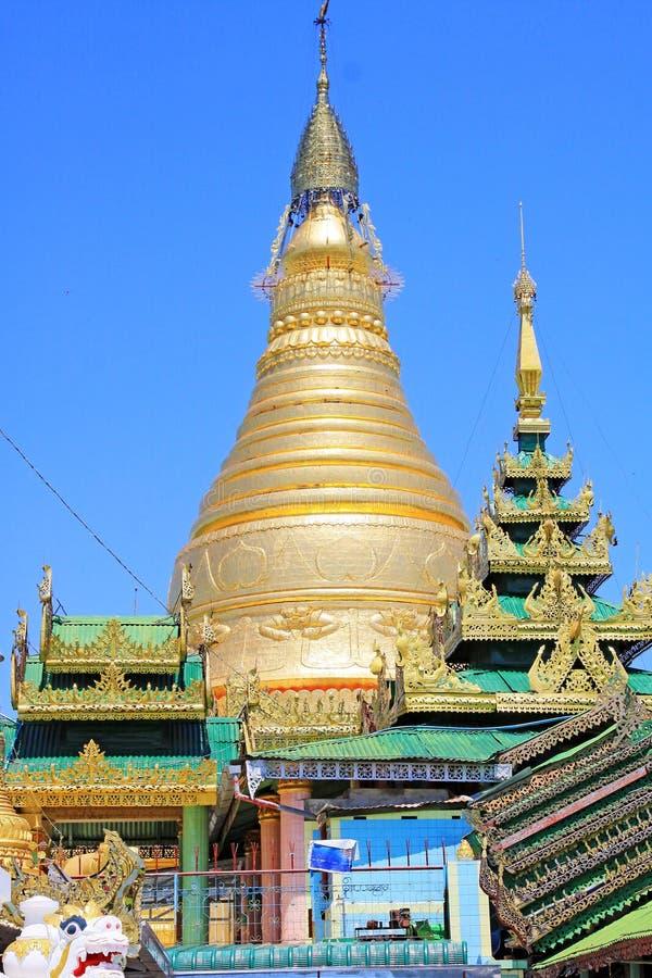 Spoedig Oo Ponya Shin Pagoda, Sagaing, Myanmar stock foto