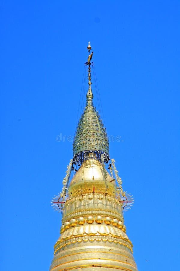 Spoedig Oo Ponya Shin Pagoda, Sagaing, Myanmar royalty-vrije stock afbeelding