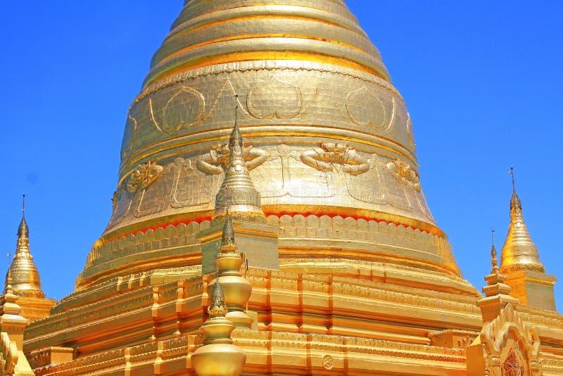 Spoedig Oo Ponya Shin Pagoda, Sagaing, Myanmar royalty-vrije stock foto's