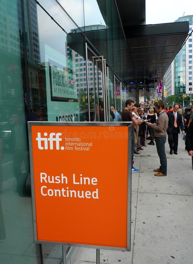 SpoedLijn van het Festival van de Film van Toronto de Internationale stock afbeelding