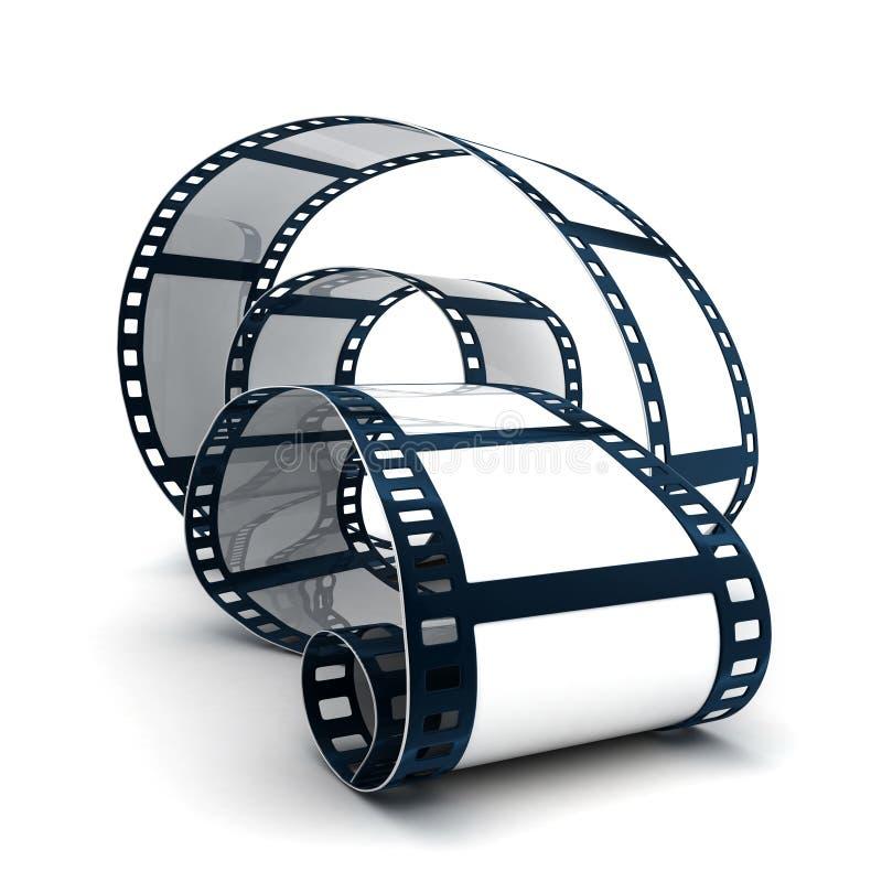 Spoel en film royalty-vrije illustratie