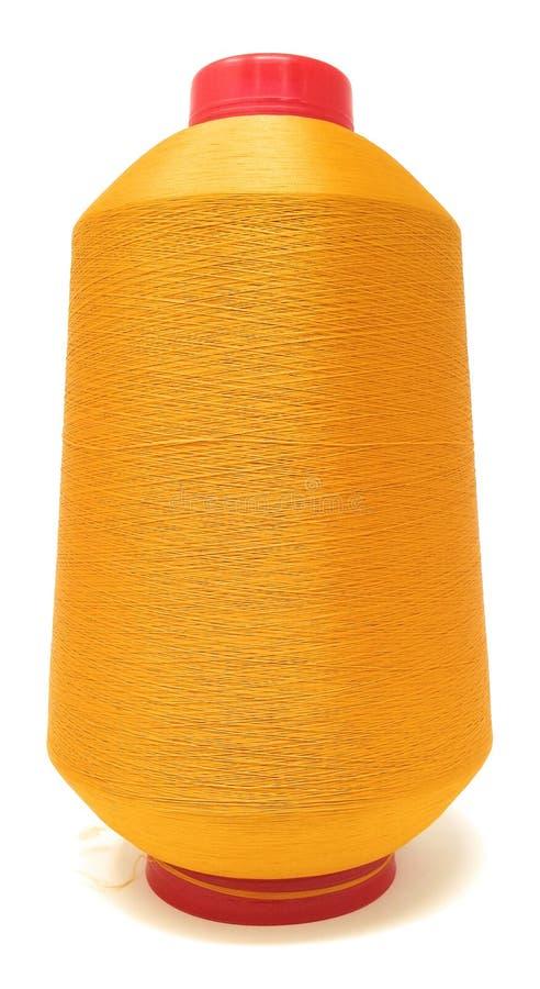 Spoel van gouden draad royalty-vrije stock afbeelding