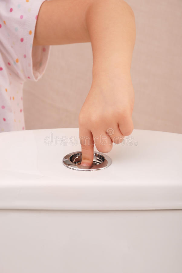 Spoelend toilet royalty-vrije stock afbeelding