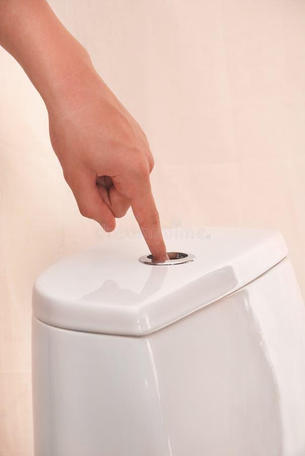 Spoelend toilet stock afbeeldingen