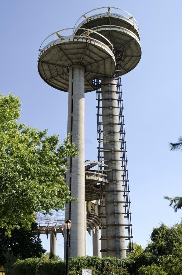 Spoelende Weiden Corona Park Towers royalty-vrije stock foto's