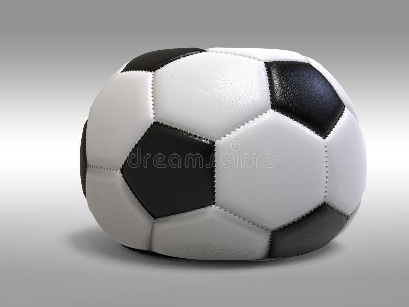 Spoiled soccer ball isolated on white background. 3D Illustration. vector illustration