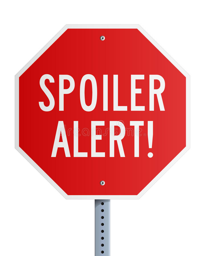 Download Spoiler Alert roadsign stock vector. Image of series - 37804203