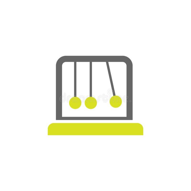 Spokój, kołysankowa ikona Element nauka eksperymentu ikona dla mobilnych pojęcia i sieci apps Szczegółowy spokój, kołyska może uż ilustracja wektor