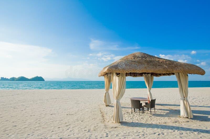 Spokój plażą zdjęcia royalty free