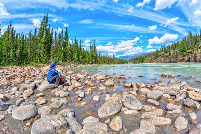 Spokój w naturze przy Jaspisowym parkiem narodowym w Alberta Kanada zdjęcia stock