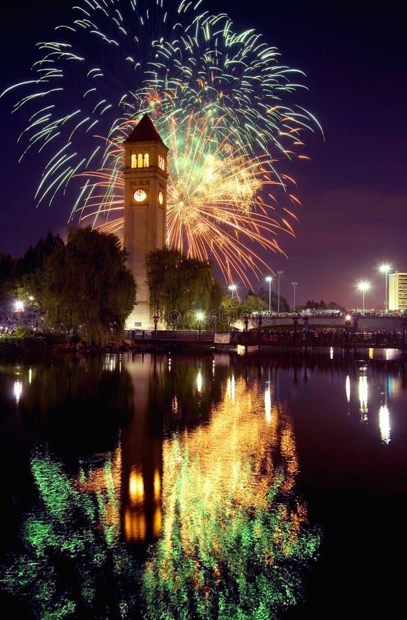 Spokane clocktower royalty-vrije stock fotografie