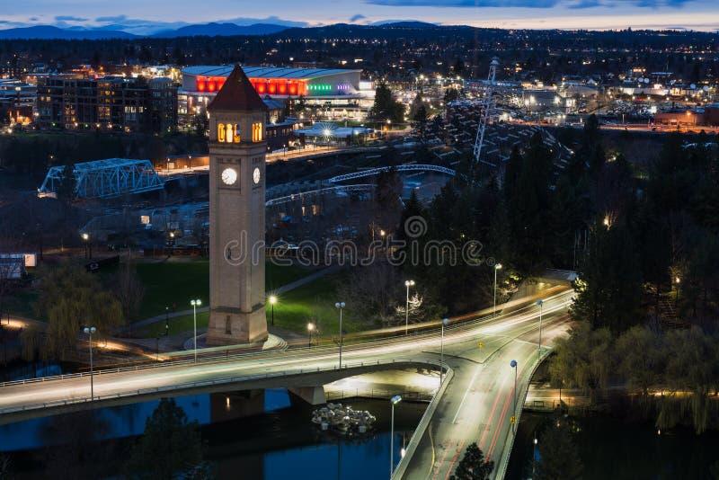 Spokane et rivière Front Park photo libre de droits