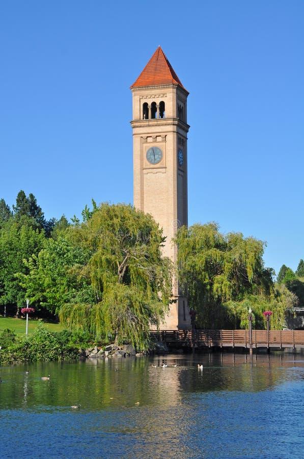 Spokane nadbrzeże rzeki Clocktower zdjęcia stock