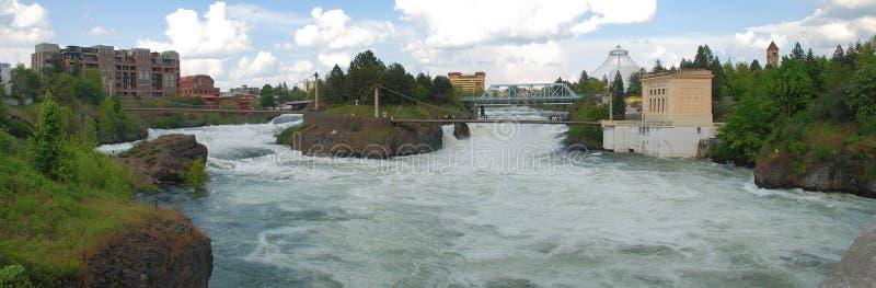 Spokane nedgångar - Spokane, Washington fotografering för bildbyråer