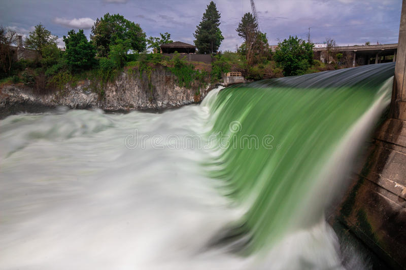 Spokane River, Washington State. The Spokane River in Washington State royalty free stock photography