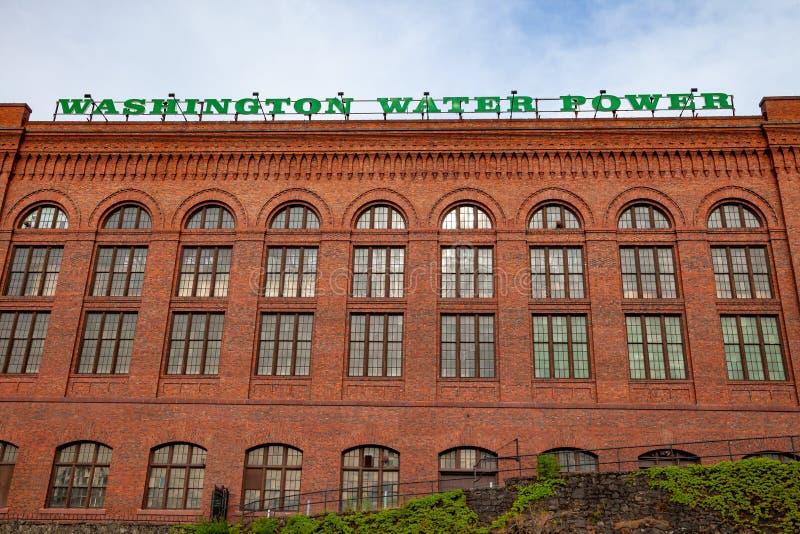 SPOKANE, WASHINGTON, DE V.S. - 16 MEI, 2018: Het Washington Water Power-gebouw in Spokane royalty-vrije stock fotografie