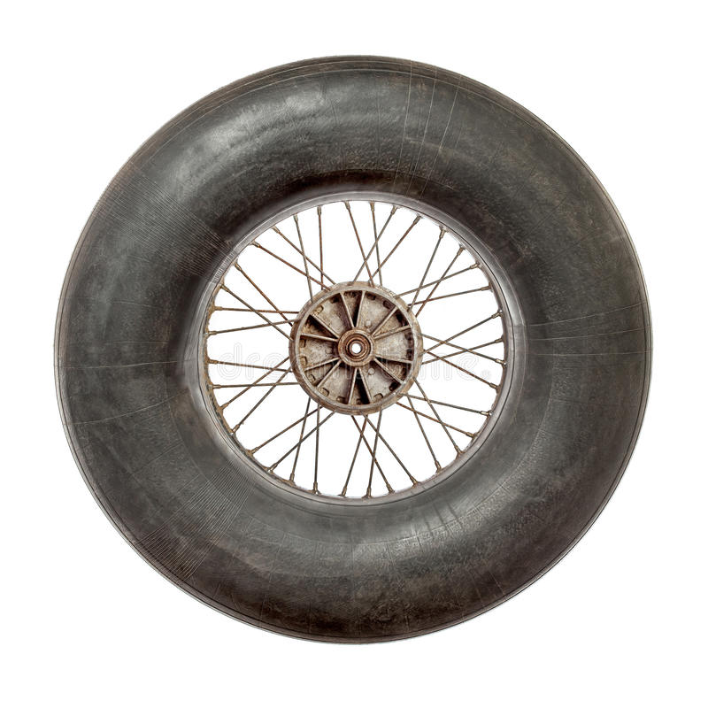 Spoke wheel with inflated tire tube royalty free stock image