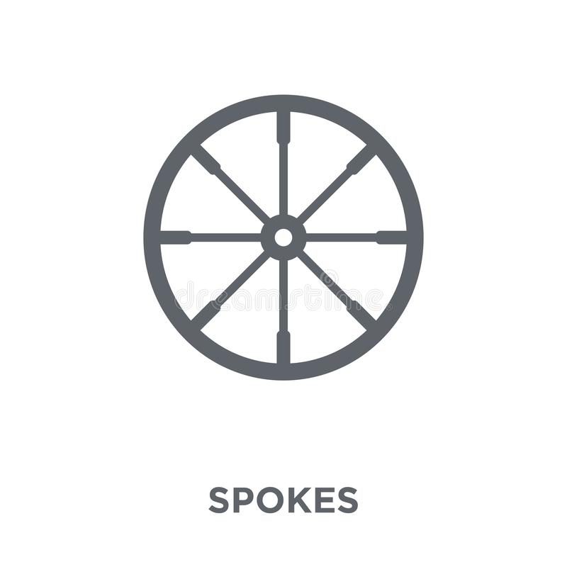 Spokes icon from Sew collection. vector illustration