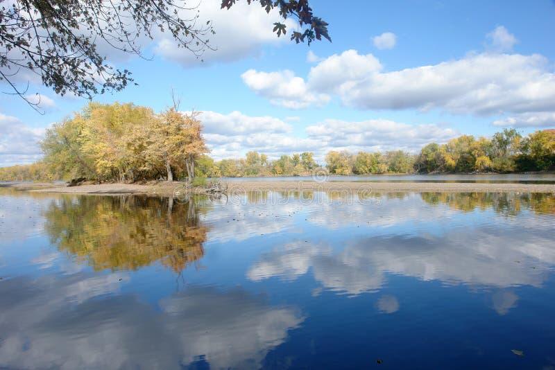 spokojna Mississippi rzeka fotografia stock